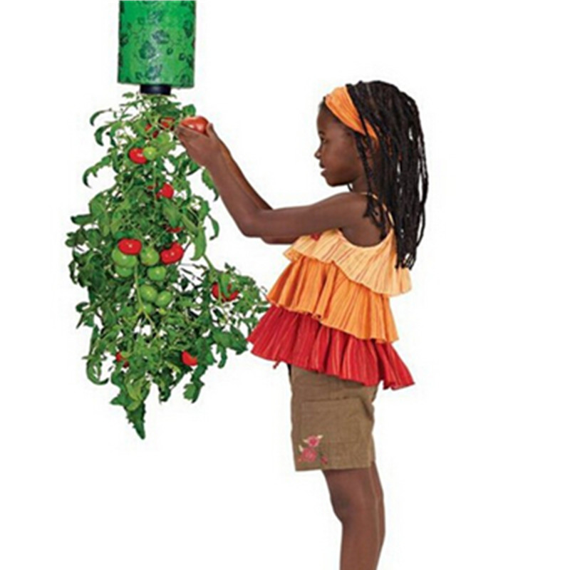 Home Yard Organic Garden Tomato Planter Topsy Turvy UpsideDown As Seen On TV Upside Down Plant Pot Vegetable In Flower Pots Planters