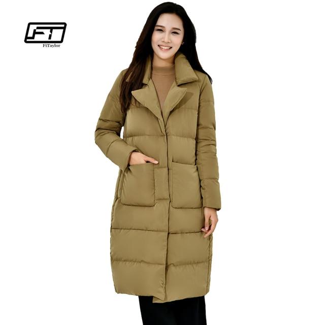Fitaylor Donne di Inverno Piumino 90% Piume D anatra Bianca Lunga disegno  Parka Ultra 10660b9faed