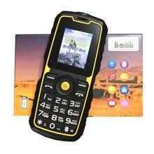 Telefone móvel à prova de choque impermeável power bank barato china telefones celulares gsm fm russo teclado botão telefones h mobile