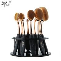 Oval Makeup Brush 10 Pcs Makeup Brush Set MULTIPURPOSE Professional Make Up Brushes Foundation Powder Brush