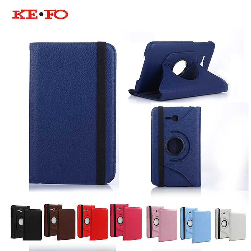 KeFo T113/T110 Cover 360 Degree Rotating Case For Samsung Galaxy Tab 3 7.0 Lite T110 T111 T113 T116 SM-T111 SM-T116 Protective protective clear screen protector for samsung galaxy tab 3 lite t110 transparent 5 pcs