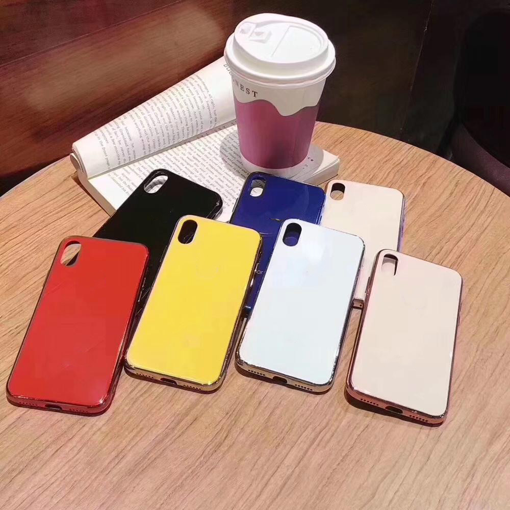 Luxury Glass Case For Apple iphone 6 7 8 10 Plus X XS XR MAX Cover 7plus 8plus 6G 6S XSMAX Fashion Christmas Hard Red Pink CasesLuxury Glass Case For Apple iphone 6 7 8 10 Plus X XS XR MAX Cover 7plus 8plus 6G 6S XSMAX Fashion Christmas Hard Red Pink Cases