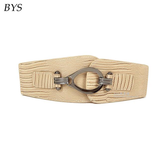Sexo feminino Moda Vintage Das Mulheres Cinto Decoração Compoteira Pin Fivela Cintos Elásticos Cinto Largo das Mulheres para Calças de Brim Vestidos de Perda de Peso