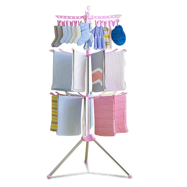 folding laundry rolling clothes hanger duty ebay bhp new heavy indoor outdoor rack drying