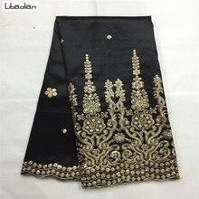 Элегантный Вышивка Джордж ткани африканских Джордж обертки африканские шелка-сырца Джордж кружева 5 ярдов/лот для шитья праздничное платье S83-25