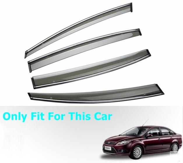 Car Window Cover Visor Sun Rain Wind Deflector Awning Shield ABS For Ford Focus Sedan MK2 2005 2011