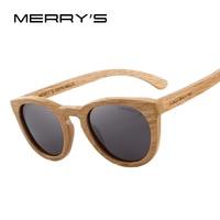 MERRYS DESIGN HAND MADE Wooden Sunglasses Men/Women Retro Polarized Sun Glasses 100% UV Protection S5268 Women's Glasses