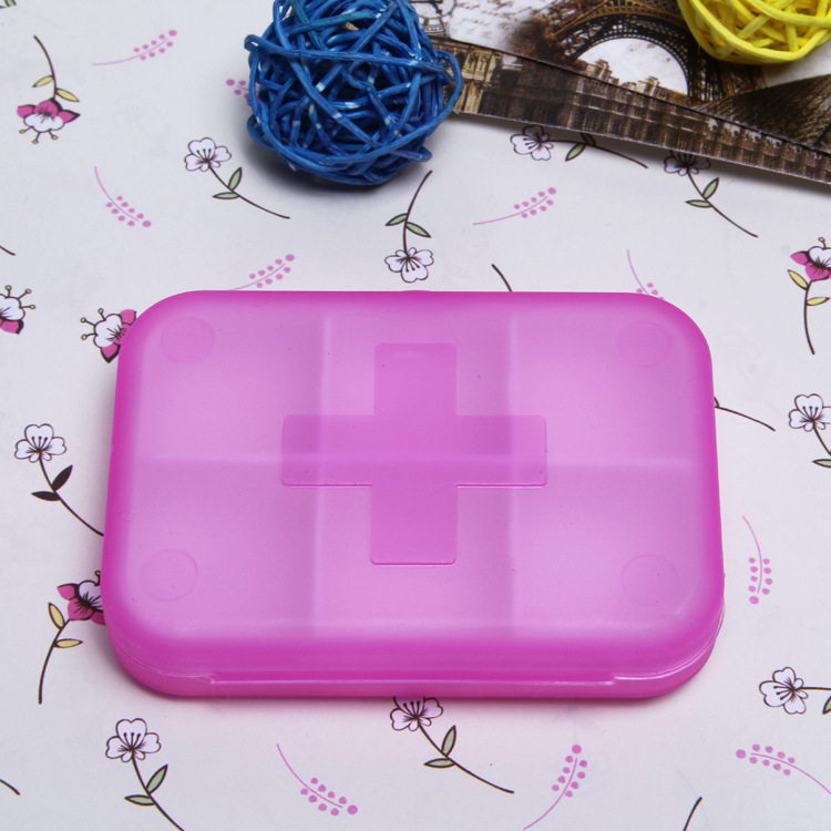 Pill Чехол 6 ячеек мини-таблетки коробка для хранения Пластик Чехол для медицины наркотиками организаторы ювелирные изделия лекарства pill box