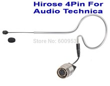 Black Sing-Hook Omni-directional Headset Head Microphone For Audio-Technica  Wireless MIC system