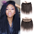 Brazilian Lace Frontal Closure Kinky Straight Virgin Hair 13x4 Full Lace Frontal Ear to Ear Lace Frontal Closure with Baby Hair