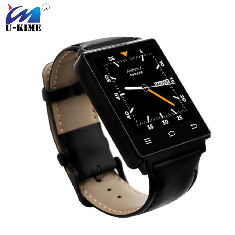 U-KIME Factory D6 Smart Watch Android 5.1 WIFI GPS MTK6580 1.3G Quad Core RAM/ROM 1G+8G Bluetooth Business Smartwatch Men цена и фото