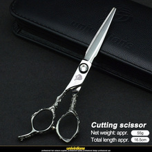 univinlions 6 left handed hairdressing scissors hand hair for salon barber cutting lefty thinning shears