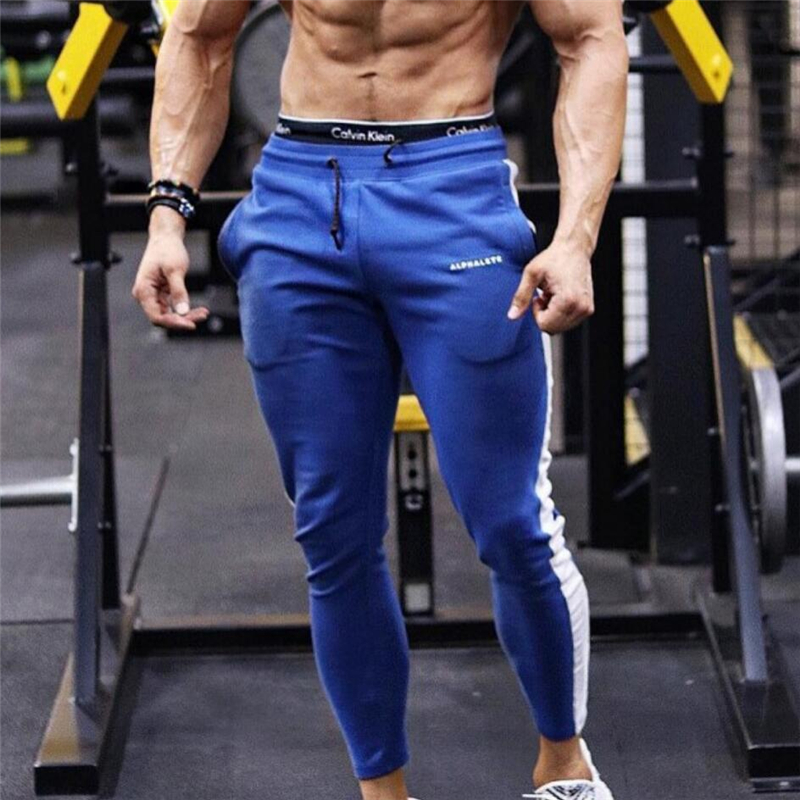 Trousers Striped Sweatpants Jogging-Pants Sport Gym Winter Men Bodybuilding Autumn New