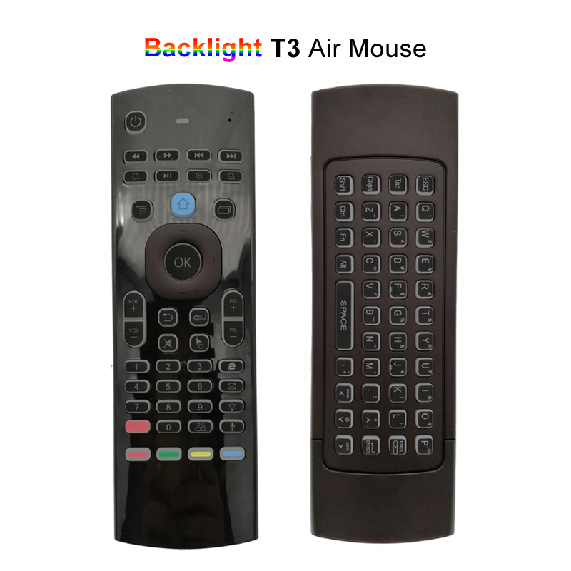 Backlight Air Mouse Universal IR Remote Control for Android TV Box Mini PC TV 2 4G