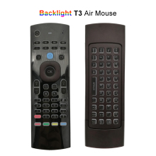 Backlight Air Mouse Universal IR Remote Control for Android TV Box/Mini PC/TV 2.4G Wireless Mini Keyboards with Mic Backlit