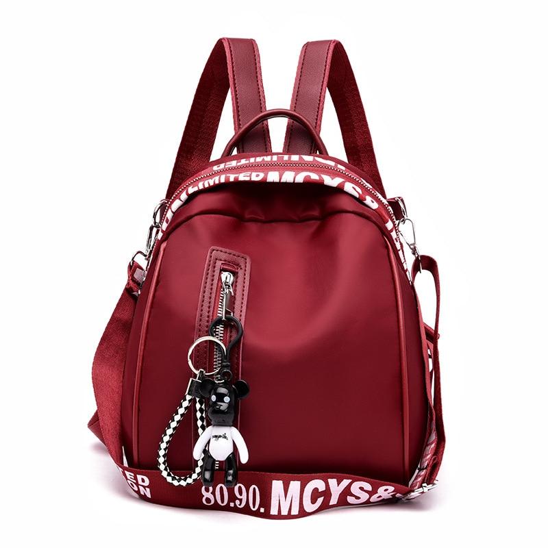 Women s fashion backpack solid color Oxford cloth college wind school bag travel trend shoulder bag Innrech Market.com