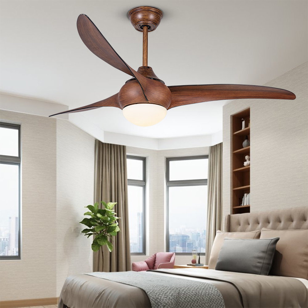 52inch Dc Variable Frequency Ceiling Fan Lights Simple Fashion Restaurant Living Room Remote Control Mute Ceiling Fan Lights
