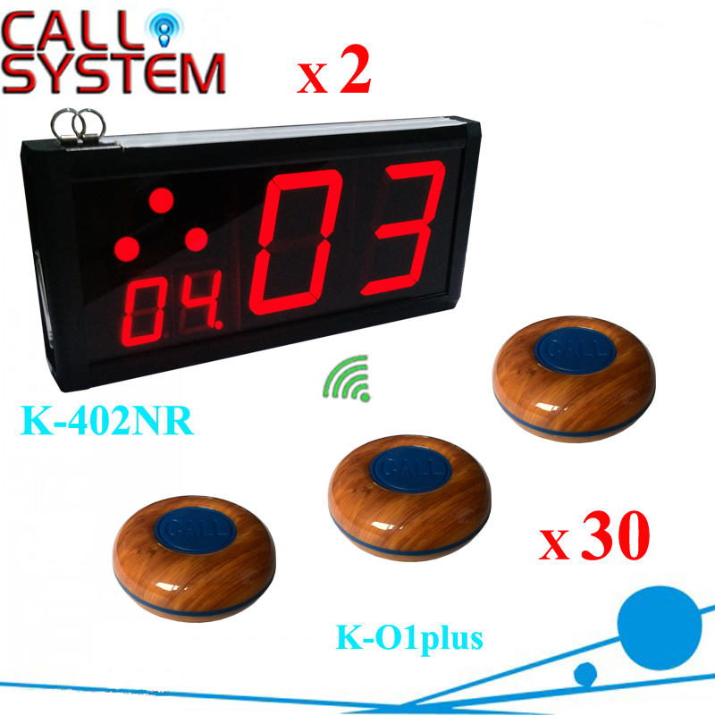 Wireless restaurant ordering system 2 lcd screen with 30 guest buzzer electronic service equipment