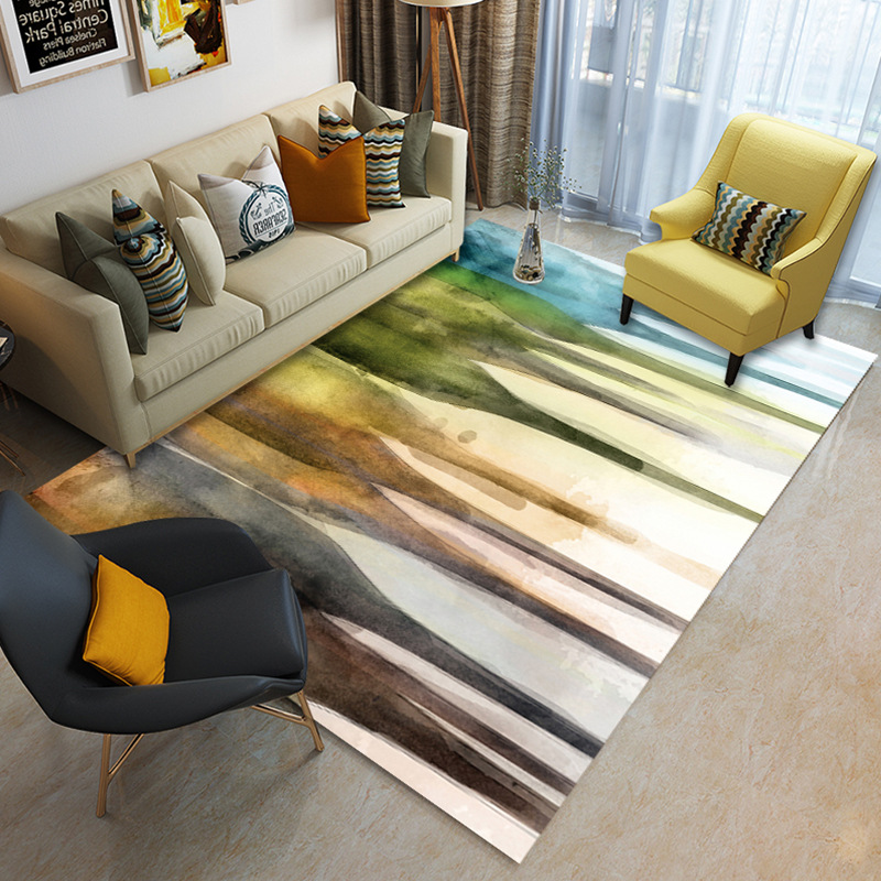 Nordic minimalist coffee table living room carpet Printed children's crawling mat Custom bedroom floor mat plush non slip rug-in Carpet from Home & Garden