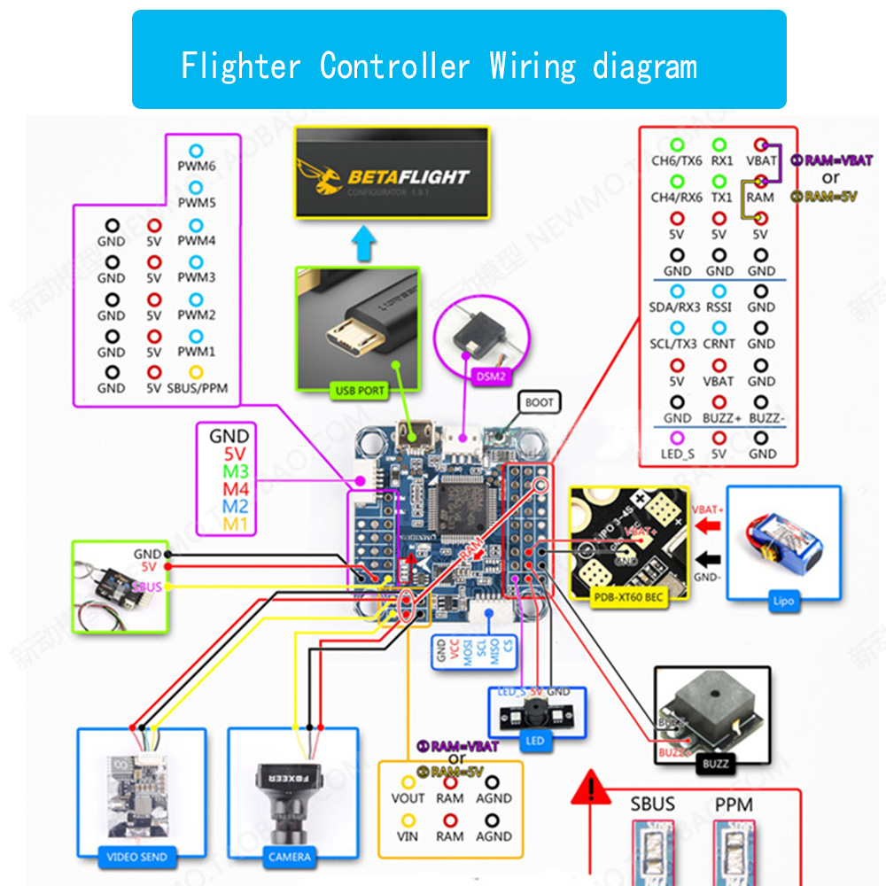 F4 Flight Controller V3 Board Built In Osd Camera Wiring Diagram Barometer For Micro Fpv Frame Quadcopter Drone Diy Rc Parts Accessories From Toys