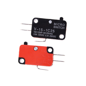 5pcs/lot 250V 16A Microwave Oven Door Arcade Cherry Push Button Micro Switch V-15-1C25 SPDT 1 NO 1 NC