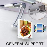 Kitchen Tablet Holder Cell Phone Stand Mobile Phone Holder Magnetism Bracket Universal Supplies Electroplating Aluminium Alloy
