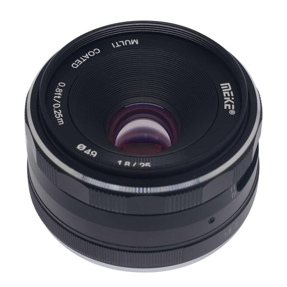 Meike 25 мм F1.8 фиксированным фокусным расстоянием большой апертурой Широкий формат объектив с ручной фокусировкой для fuji пленка fuji X Крепление беззеркальных камер с APS-C