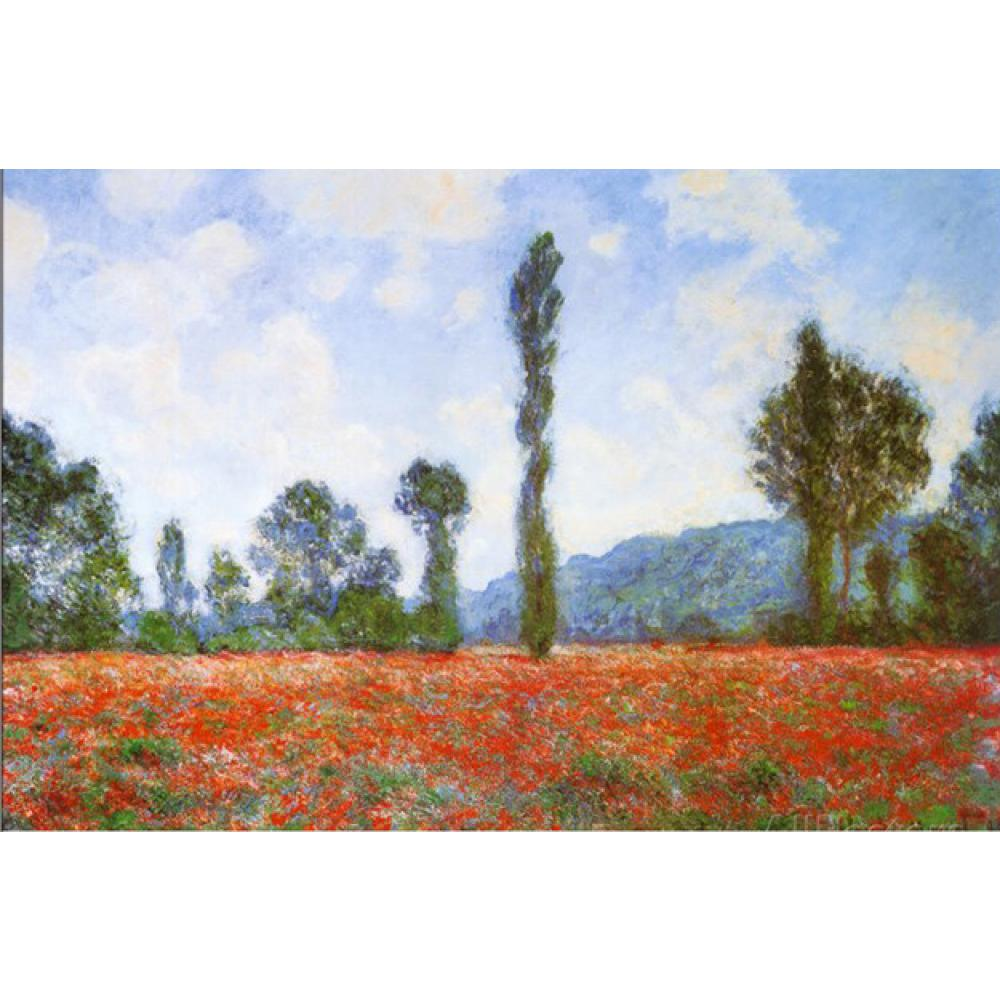 Field of Poppies by Claude Monet Reproduction oil painting Canvas art Handmade High quality