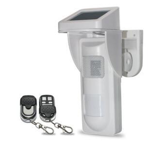 bilder für Im freien Wasserdichte Solar Alarm System Pet Immune PIR Sensor Erinnerung (Sound und Blinkt, wenn Alarm) + 2 stücke Fernbedienung Schlüsselanhänger