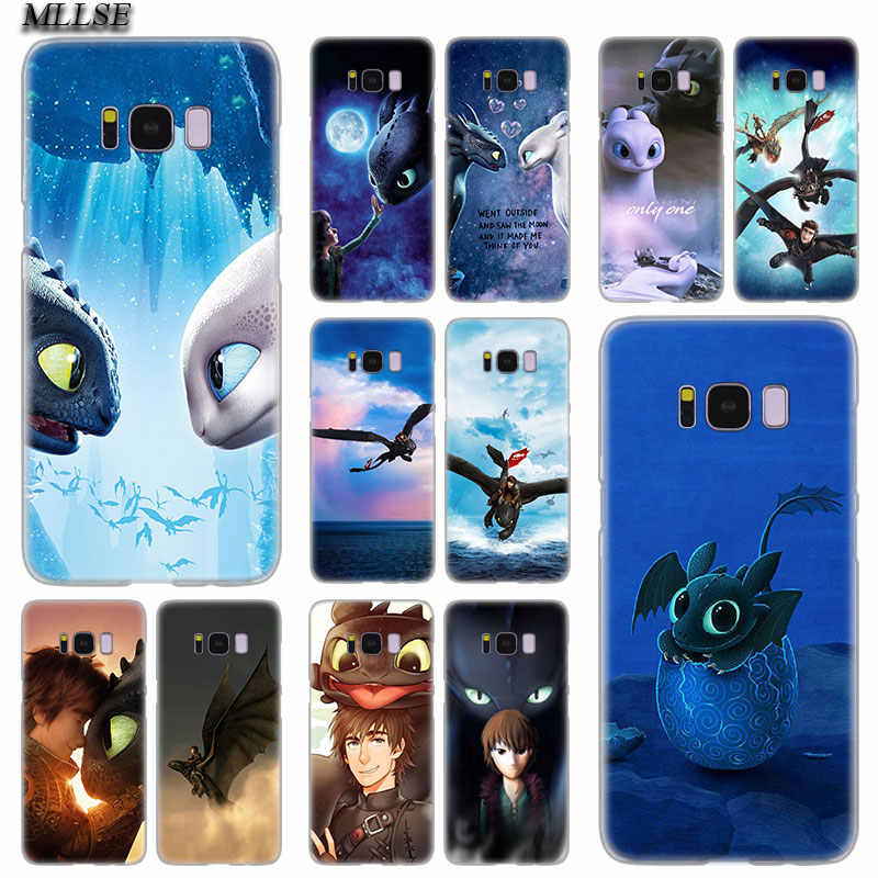 Mllse Toothless Train Your Dragon Keras Keras Case PENUTUP UNTUK Samsung Galaxy S10 Lite S9 S8 Plus S7 S6 Edge s5 S4 Mini Fashion Cover