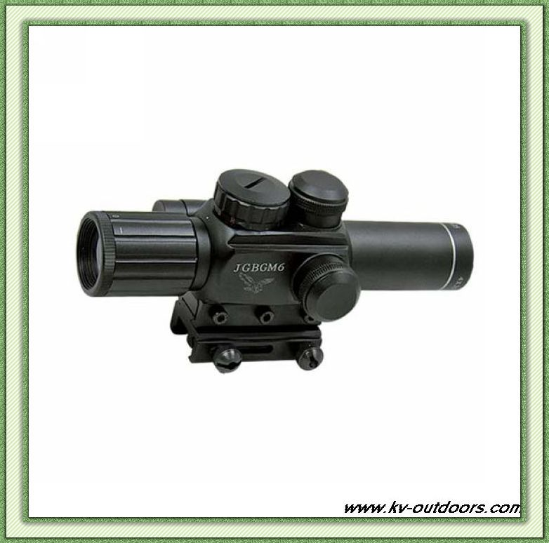 ФОТО Free Shipping M6 4X25 hunting rifle scope with red laser sight water/fog proof