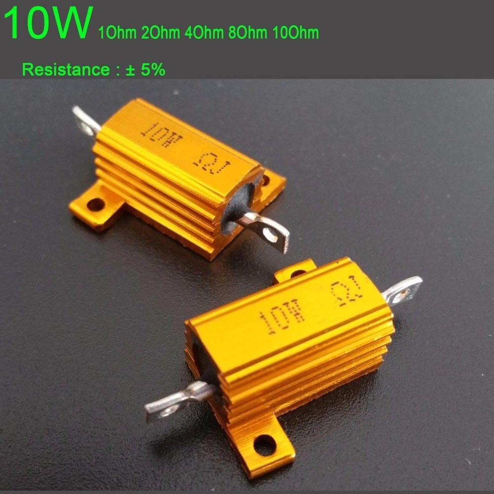 DYKB <font><b>10W</b></font> Watt Power Metal resistor Aluminum ohm 1ohm/2ohm/ 4ohm / 8ohm 1R 2R 4R 8R 10R for <font><b>tube</b></font> amp <font><b>Amplifier</b></font> test dummy Load image