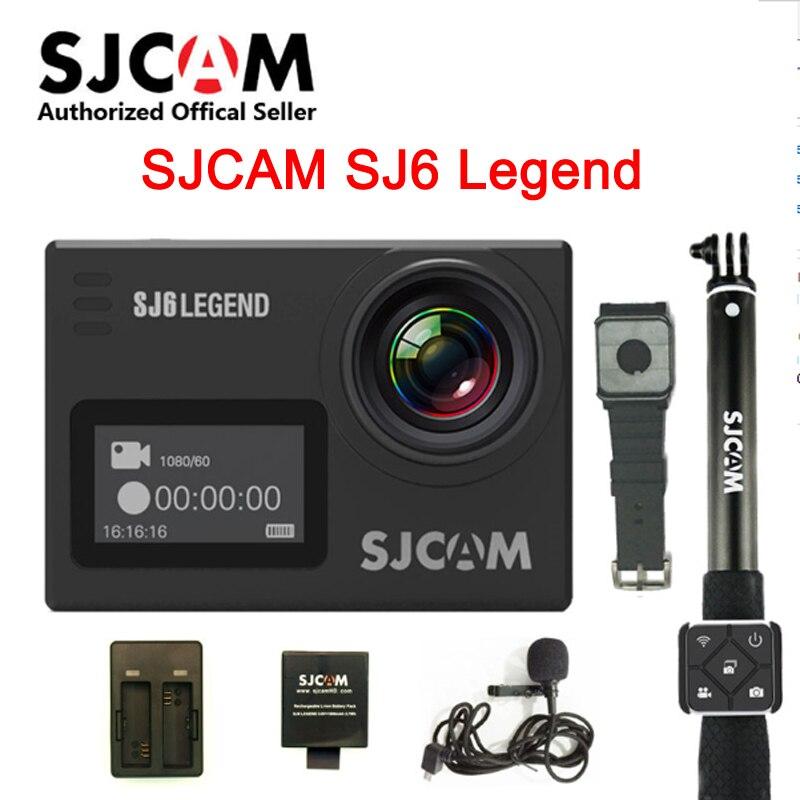 SJCAM SJ6 Legend 2 'сенсорный экран дистанционного действия шлем Спортивная DV камера Водонепроницаемая 4K 24FPS NTK96660 RAW w/передний экран