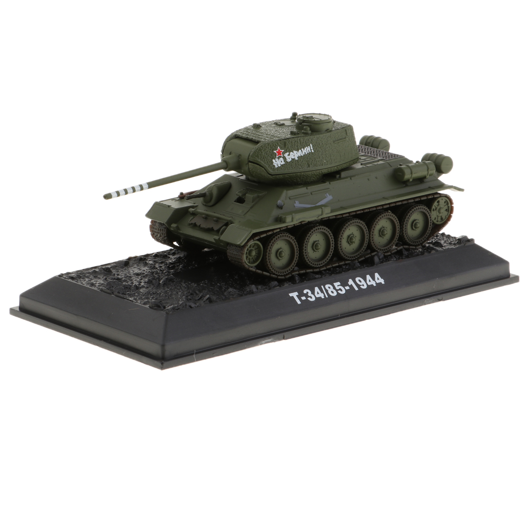 1:72 Simulation Russian WWII <font><b>T34</b></font>/85-1944 <font><b>Tank</b></font> <font><b>Model</b></font> Toy Vehicles image