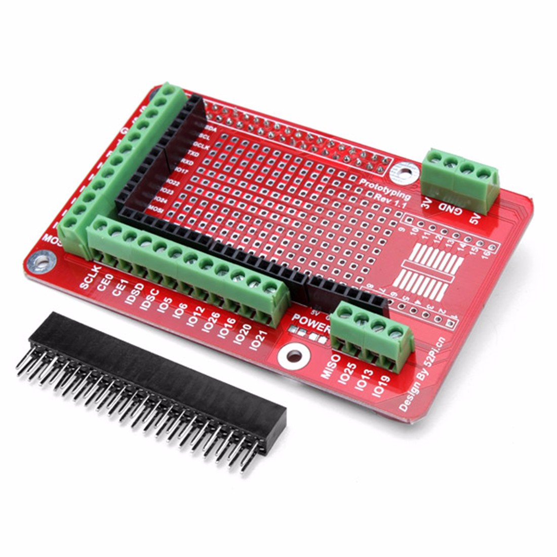 Best Promotion 1Pcs Prototyping Expansion Shield Board Prototyping Shield Module For Raspberry Pi 2 Model B & RPI B+