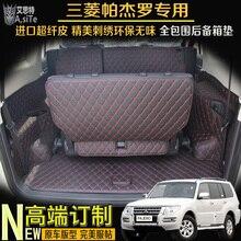 5d tapete mala do carro tapete de carga cobertura para mitsubishi pajero mitsubishi montero mitsubishi shogun 2006-2017 forro de carga