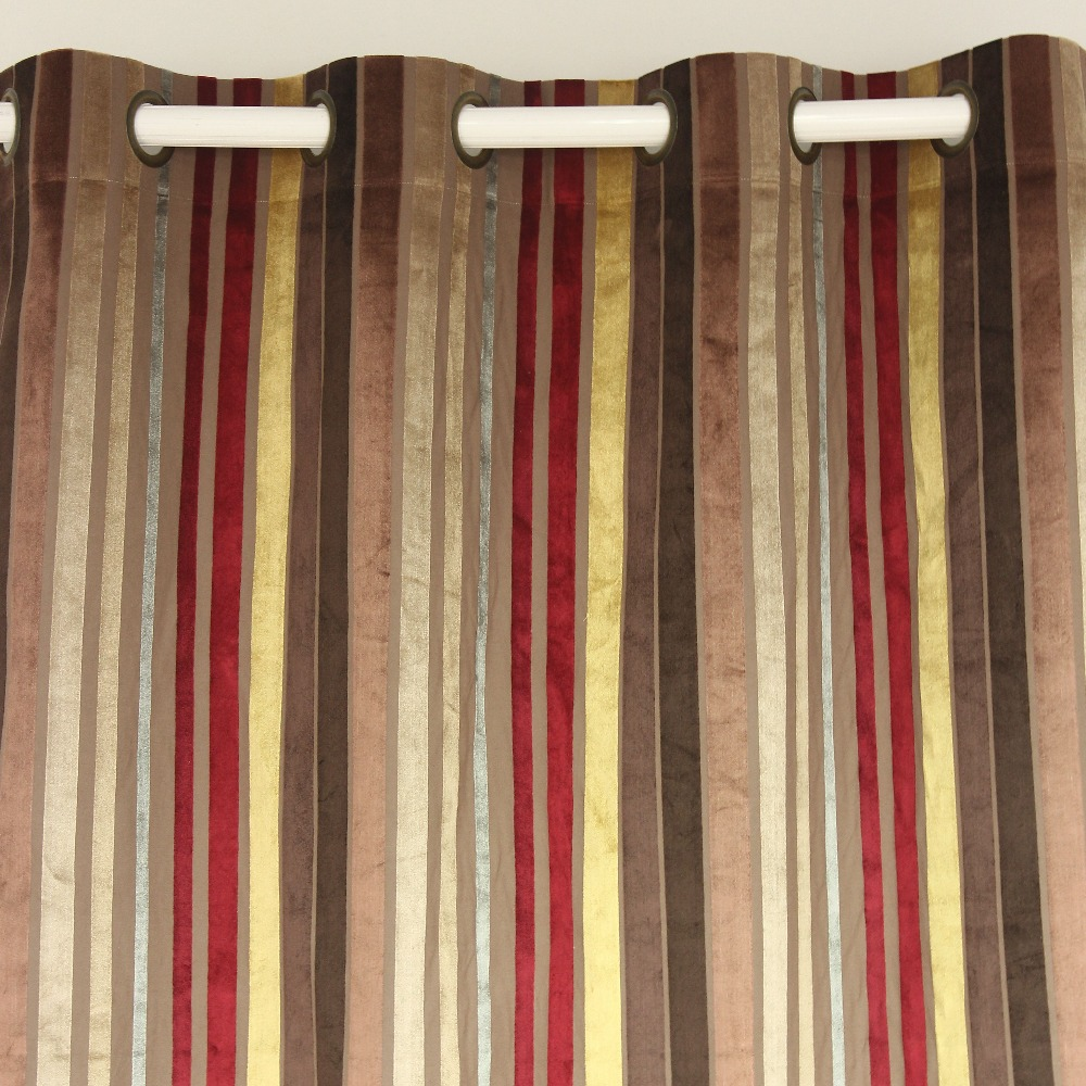 Striped Bedroom Curtains Popular Striped Velvet Curtains Buy Cheap Striped Velvet Curtains