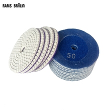 200 pieces Wet Flexible Polishing Pad for Stone Tile Marble Granite Grinding