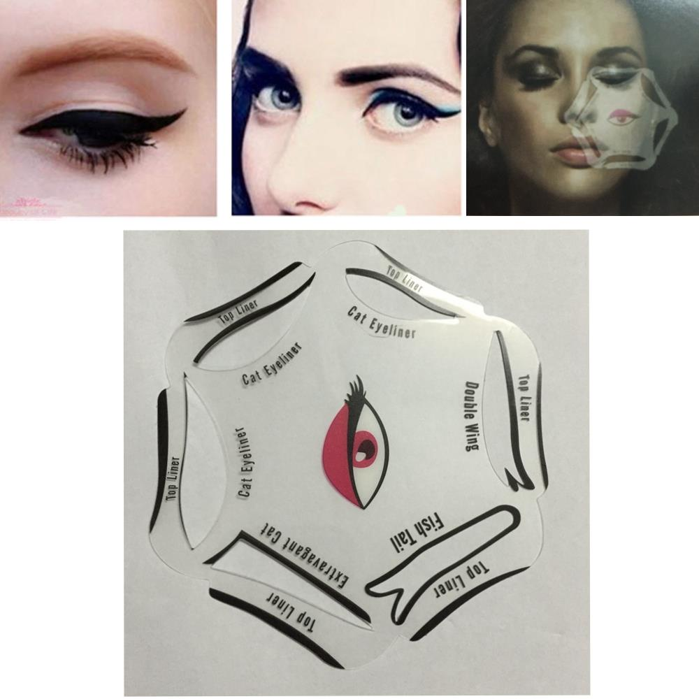Nulala Brand Hot Ing 6 In 1 Stencils Eyeliner Template Smoky Makeup Guide Cat Eye Liner