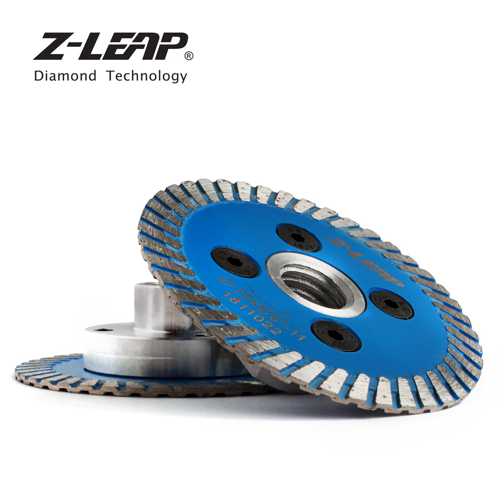 Image 5 - Z LEAP 75mm Diamond Mini Turbo Cutting Blade With Removable Flange M14 5/8 11 Diamond Carving Disc Saw Blade For Stone Granite-in Saw Blades from Tools