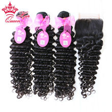 Or queen piece deep extension products curly top lace wave closure