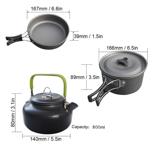 סט מושלם לבישולים וטיגונים לטיולים 1