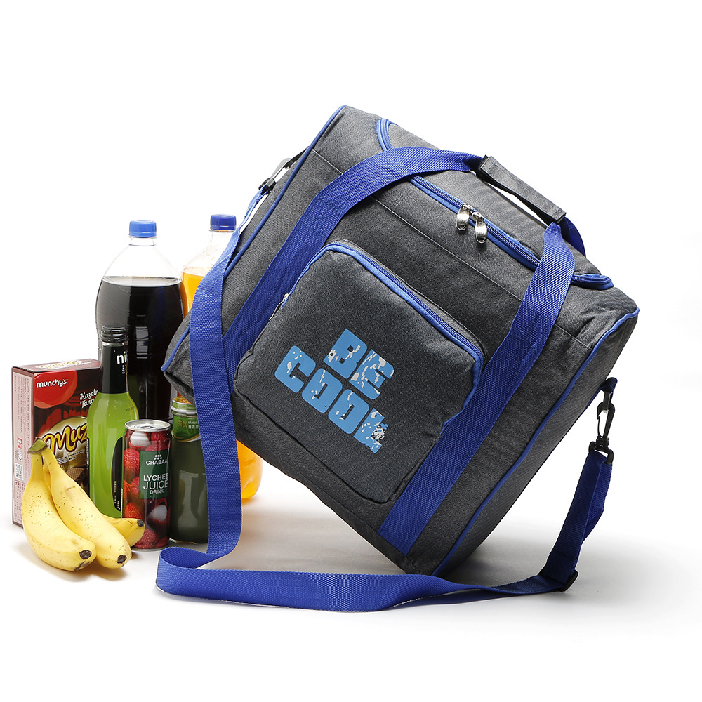 New High quality thermal cooler bags shoulder bag vehicle insulation bag food storage cool ice bag thermo pack large capacity