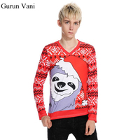 Autumn Winter New Men S 3D Pattern T Shirt Fashion Abstract Cartoon Printing Long Sleeved T