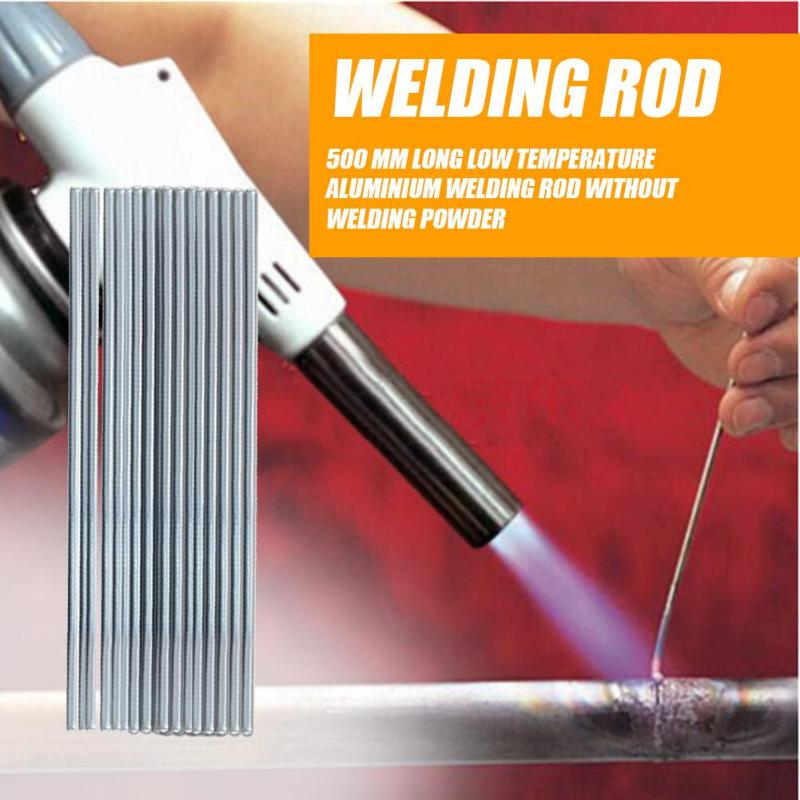 New 10pcs 500mm Welding Rods Low Temperature Aluminum Welding Rod Wire Electrode Welding Sticks Soldering Supplies Dropshipping