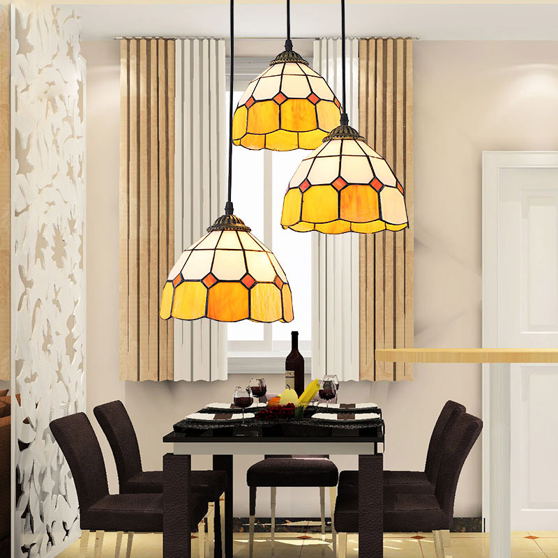 Mediterranean Continental vintage E27 bulb pendant light fixture home deco DIY living room Tiffany colorful Glass pendant lamp зимняя шина continental contivikingcontact 6 225 55 r17 101t