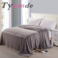 Pure color coral fleece blankets flannel thickening double raschel blanket air conditioning blanket sheets