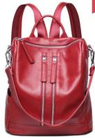 2pcs K278 Multi Functional Can Be Used As Single Shoulder Bag / Genuine Leather Backpack Bags