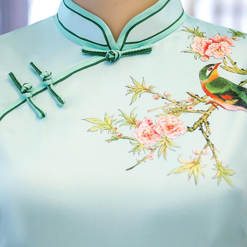 Col Élégant 3 Chinois 7 Taille 4 Fleur Mince Cheongsam Qipao Dame 10 6 M Arrivée 5 Nouvelle Nouveauté Femmes xxxl 8 2 1 Mandarin Imprimer 11 Style 9 Court Robe xpzOqBI