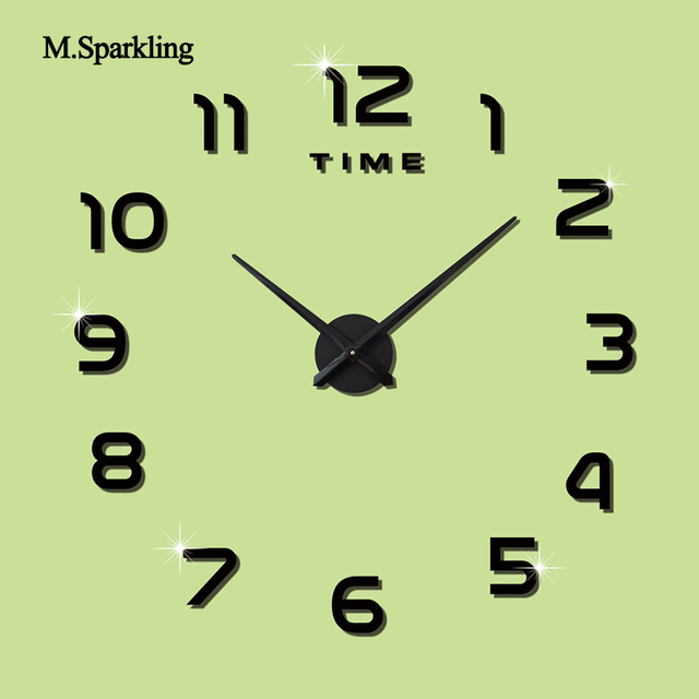 M. espumoso gran reloj de pared digital 3D cocina sala de Relojes de ...